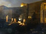 prachtige muziek en lichtshow, geprojecteerd op het Forum of Augustus