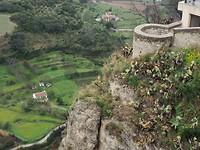 Uitzicht in de kloof van Ronda