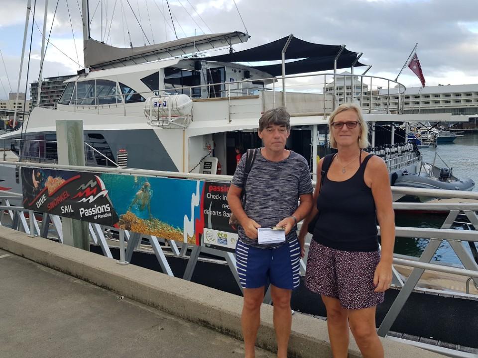 Onze catamaran van Passion.