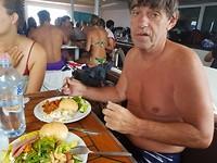 Heerlijke lunch samen met wel 100 opvarenden.