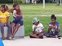 Veel Aboriginals in Cairns.