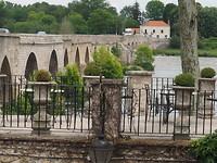 Uitzicht op de Loire vanaf het hotel L'Abbaye