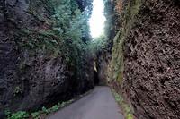 Door de Etrusken uitgehakte holle weg, voorbij Viterbo