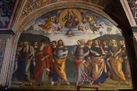 Fresco van Perugino in het gebouw van het gilde van de kassiers. Goed bestede duiten!