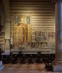 Een enorme fresco van de heilige Christophorus