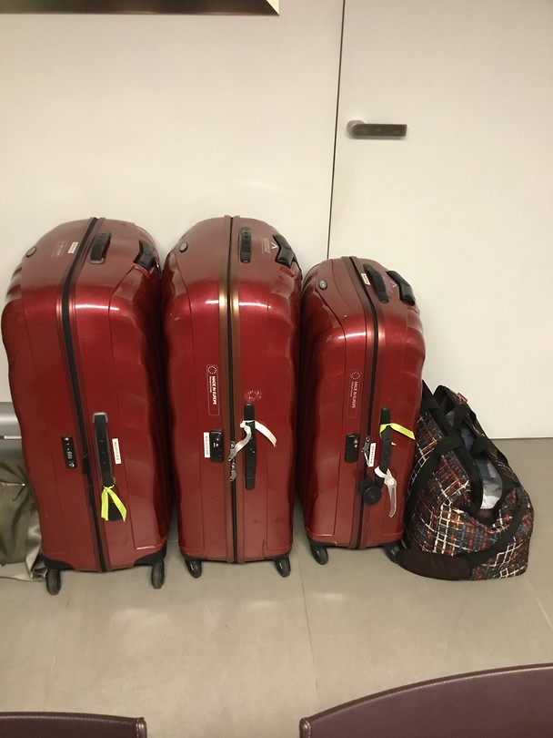 De valiezen staan klaar!