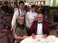Afscheid van onze kelners op het schip