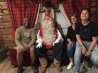 Op visite bij de kerstman