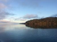 Uitzicht in de ochtend vanaf de boot