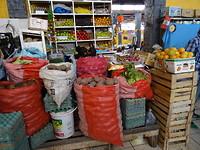 Locale markt, veel groentes