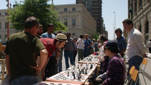 simultaan schaken in Santiago