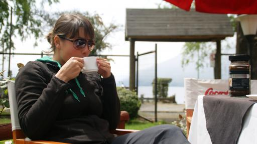 koffie bij lake Caburgua