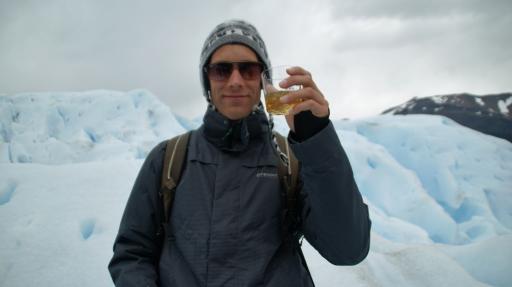 whiskey met gletsjer ijs