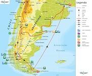 Reisroute Patagonië