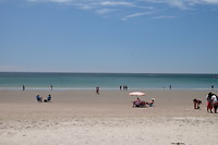 Het strand tegenover ons hotel