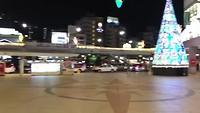 Nagasaki station in Kerstsfeer