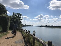Fietspad langs de Saône