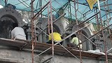 Ze waren nog volop de tempel aan het restaureren