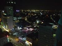 Uitzicht uit het hotel by night