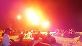 Vuurwerk show op het strand