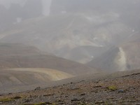 Bad weather in the mountains, those mountains have a million colors which you can't see now