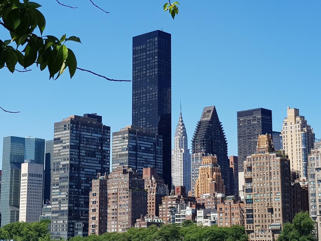 Manhattan vanaf Roosevelt Island