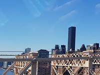 """Uitzicht vanuit Roosevelt Island op """"ons""""appartement"""