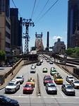 Uitzicht vanuit de tram op Queensboro Bridge