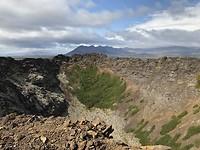 In de krater