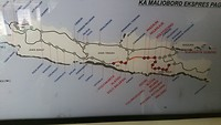 De afgelegde treinreis van Yogyakarta naar Malang