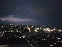 Uitzicht vanuit het hotel om 18.00 uur