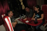 gezelligheid in de trein, ivo, Jack (singapore) en Helena (oostenrijk)