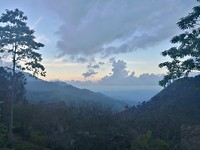 Sunset op Little Adams Peak
