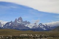 De bergrug vanuit El Chalten gezien