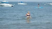 Lekker zwemmen in het meer van Arcachon