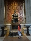 het beeld van st. Petrus