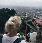 Uitzicht vanaf de monkey tempel