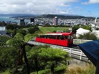 The cablecar met uitzicht op Wellington