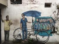 mannen met fiets