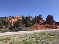 Begin van de Red Canyon