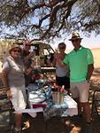 Gewoon ff lunchen in de Namib