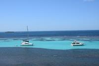 Uitzicht vanaf Rottnest Island