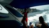 Tripje met speedboot over onrustige zee