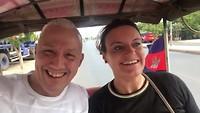 Onze eerste tuk-tuk in Cambodia