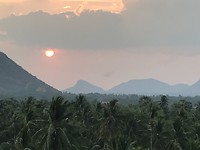 Omgeving Battambang - mooie sunset