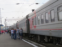 Buiten de trein