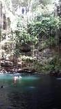 "Cenote ""Ik Kil"" bij Chichen Itza."