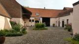 De binnenplaats van ons logeeradres in Tournai
