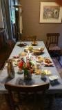 Het ontbijt bij de B&B van mevr. Deniz in Tournai