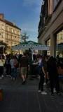 De Heiniken stand op het plein in Compiegne